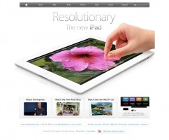 The Apple homepage implements white space successfully.