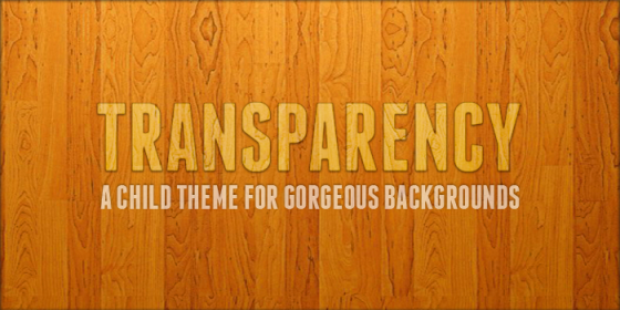 Transparency Child Theme