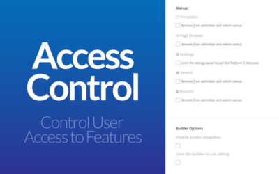 PageLines Access Controls