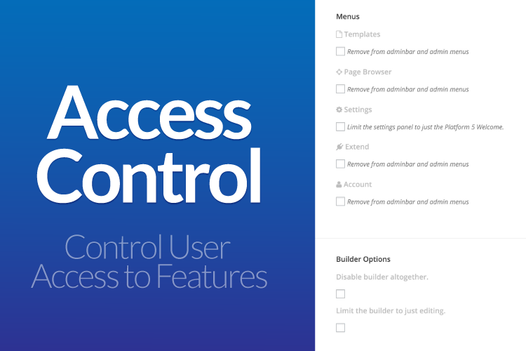 PageLines Access Controls Screenshot