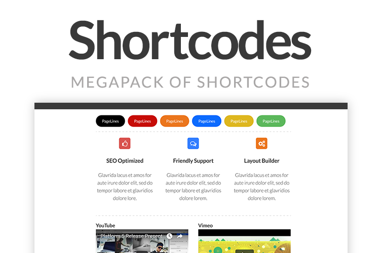 PageLines Shortcodes Screenshot